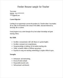 Resume Sample For Fresher Teacher by 25 Resume Formats In Pdf Free U0026 Premium Templates