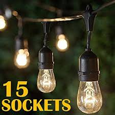 vintage style outdoor commercial patio string lights w
