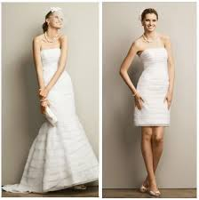 two in one wedding dresses by david u0027s bridal the fashionbrides