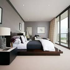 modernes schlafzimmer schlafzimmer grau ein modernes schlafzimmer interior in grau