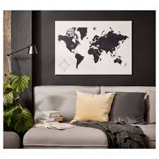 Ikea World Map Canvas by
