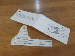 309 alignment protractor with arm mounting template