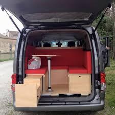 nissan cargo van interior trabajos rústicos modulo camper nissan evalia make a beautiful