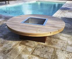 Wood Burning Firepit by Wood Burning Fire Pit Wooden With Barbecue Kronos Kub