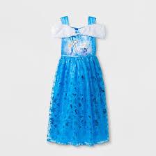 girls u0027 disney frozen dress up gown nightgown blue target
