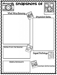 fresh monthly preschool newsletter template pikpaknews