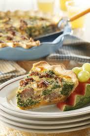 sausage spinach quiche pork recipes pork be inspired