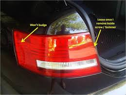 how to replace tail light bulb removing tail light assembly 2007 a6 audiworld forums