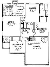 3bed 2bath Floor Plans 653788 One Story 3 Bedroom 2 Bath French Traditional Style