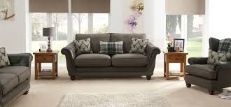 argyle 3 seater standard back fabric sofa scs
