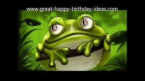 the sweet happy birthday frog song youtube