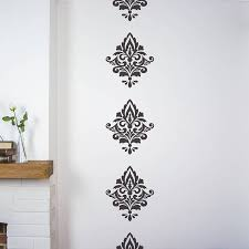 wall decals damask color the walls of your house wall decals damask damask wall stickers by nutmeg notonthehighstreet com