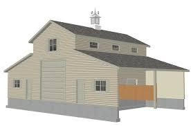 Free Sle Barn Plan Download G339 52 X 38 Barn Plan Building Plans Barn