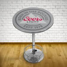 coors light bar stools sale trademark coors chrome pub bar table co2000 the home depot
