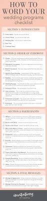 wedding programs wording wedding 23 tremendous wedding programs photo inspirations