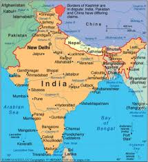 India Political Map India Political And Adjacent Countries Map Map Of India And