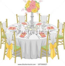 how to set a formal table illustration formal table setup reception hall stock vector