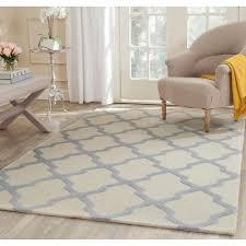safavieh cambridge ivory light blue 5 ft x 8 ft area rug cam121f