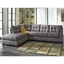 Ashley Furniture Furniture Sophisticated Cozy Sectional Grey Sofa And Fancy Green