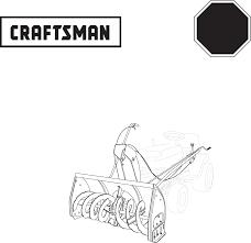 craftsman snow blower 486 248381 user guide manualsonline com