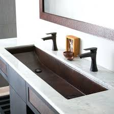 trough sink with 2 faucets trough sink with 2 faucets sink designs and ideas