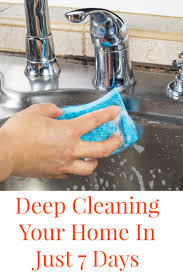 deep cleaning your home in just 7 days