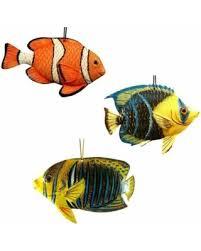 amazing deal tropical fish ornaments 3 dimensional set of 3