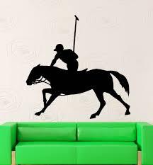 popular wall mural horse buy cheap wall mural horse lots from equestrian man rider horse art design wall mural creative man riding horse pattern vinyl wall sticker