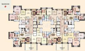Floor Plan Of House 2 3 Bhk Cluster Plan Image House Of Hiranandani Seawood For