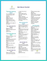 5 planning a baby shower checklist procedure template sample