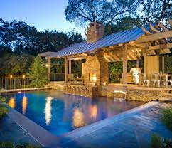 cabinet backyard designs with pool and outdoor kitchen awesome