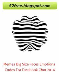 Memes Facebook Chat - memes big size faces emotions codes for facebook chat 2014