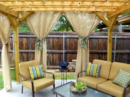 Outdoor Gazebo With Curtains by Outdoor Privacy Curtains Gazebo Home Design Ideas