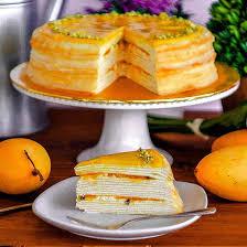 Kek Mango mango mille crepe premium handmade by