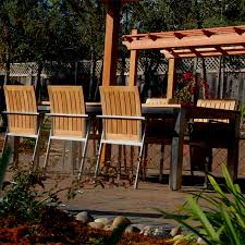 teak steel outdoor dining set for 6 signature u0026 alzette