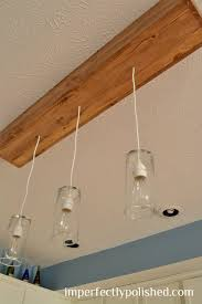 Diy Pendant Light Fixture Diy Kitchen Pendant Lights How To Change A Recessed Light To