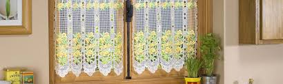 Lace Cafe Curtains Macrame Lace Cafe Curtains