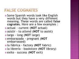 false cognates in spanish