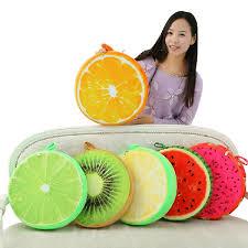 3d creative plush foam squishy fruit pillow back cushion office