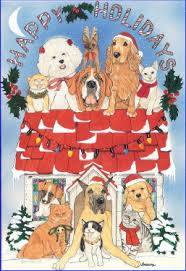dog christmas cards dog lovers christmas cards