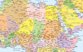 Blank Northern Africa Map by Digital Vector Maps In Illustrator Format Gall Projection Large