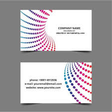 business card layout template domain vectors