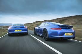 porsche cayman comparison porsche 911 gt3 versus 911 gts and cayman gts comparison autocar