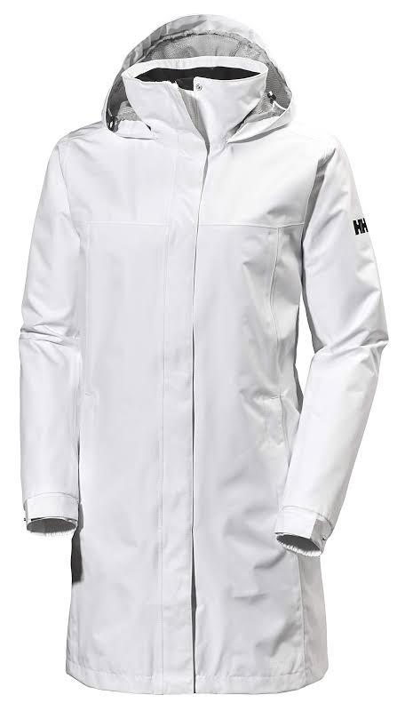Helly Hansen Aden Long Rain Jacket White