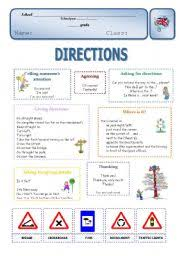 english teaching worksheets asking for giving directions