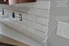 tile backsplash trim ideasidea duo ventures kitchen makeover subway tile backsplash installation