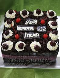 black forest cake decoration ideas square black forest birthday