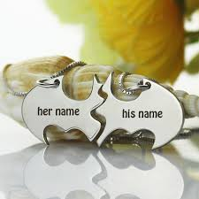 Couple Name Necklace Write Couple Name On Silver Batman Superhero Necklace