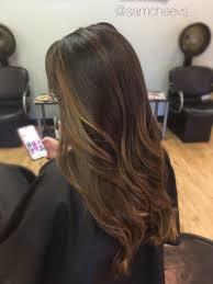 light brown hair with caramel highlights on african americans wedding hair bride hair bridesmaid hair color dark to light brown