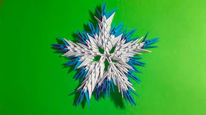 3d origami beginner tutorial 3d origami snowflake tutorial instruction n2 for beginners youtube